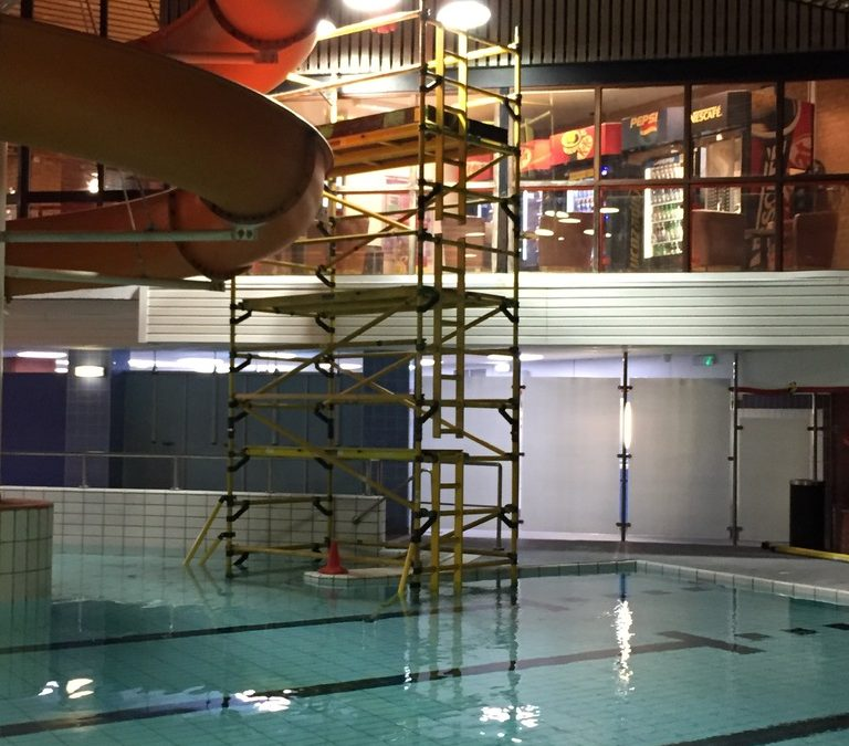 SMARTech electricians Olympiad pool lighting refurb