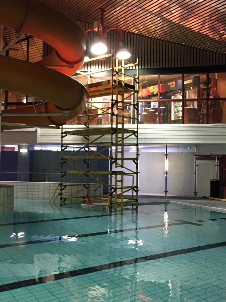 SMARTech electricians Olympiad pool lighting refurb
